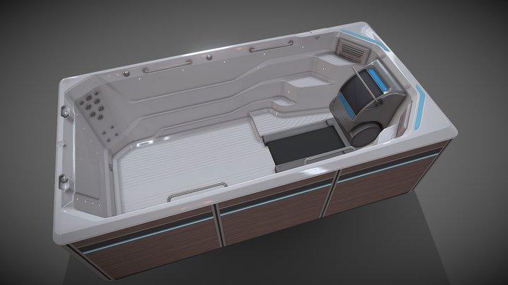 E550_Treadmill_SwimMachine 3D Model