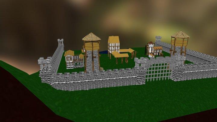 Aldea Completa 3D Model