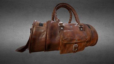 Leather Camera Bag 3D Model