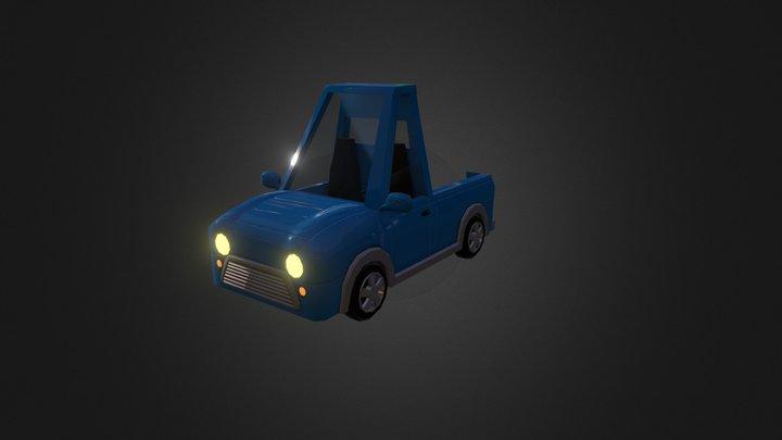 Mini Truck Game Asset 3D Model