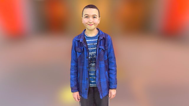 Boy in blue 3D Model