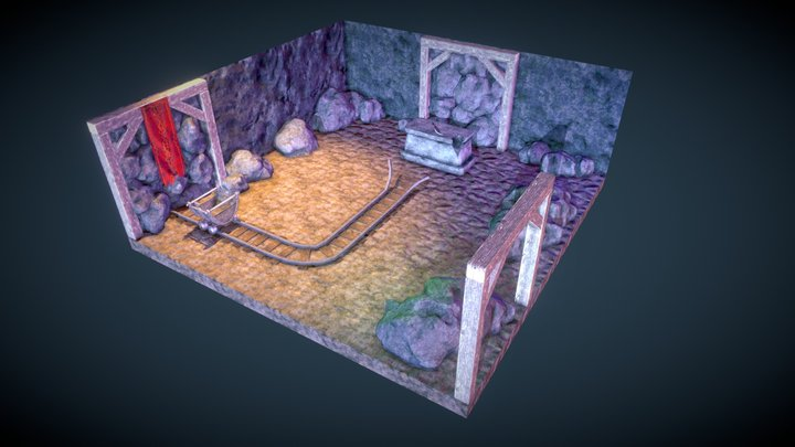 Abandoned Mine Diorama 3D Model