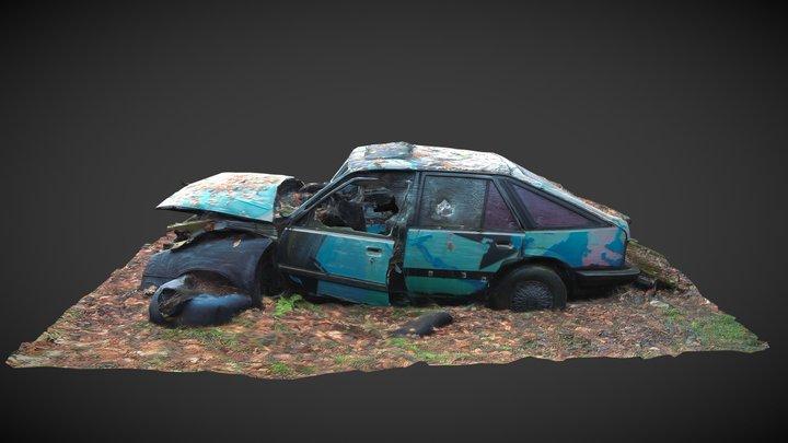 Opel kadett D coupe after tuning 3D Model