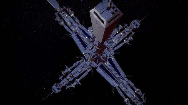 SF Relay station concept 3D Model