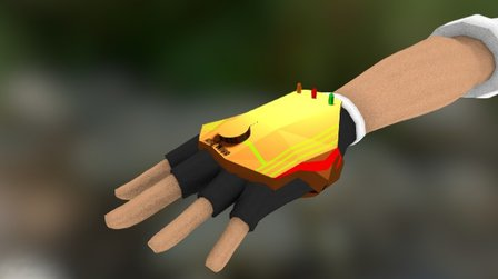 Hands Rigged Glove 3D Model