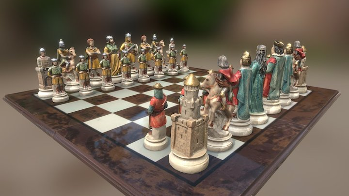 Chess - Battle of Camlann 3D Model