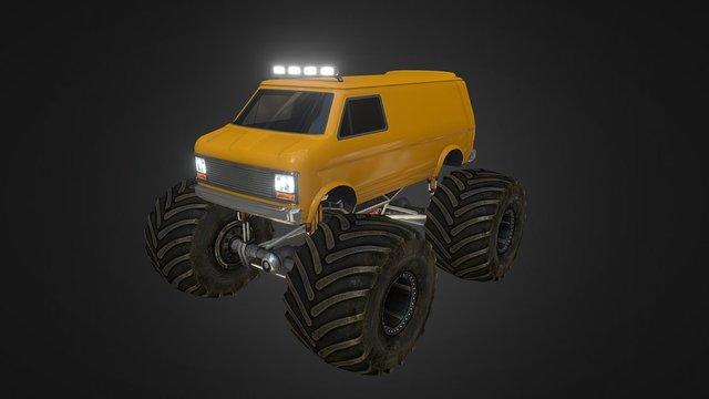 Monster Truck - Van 3D Model