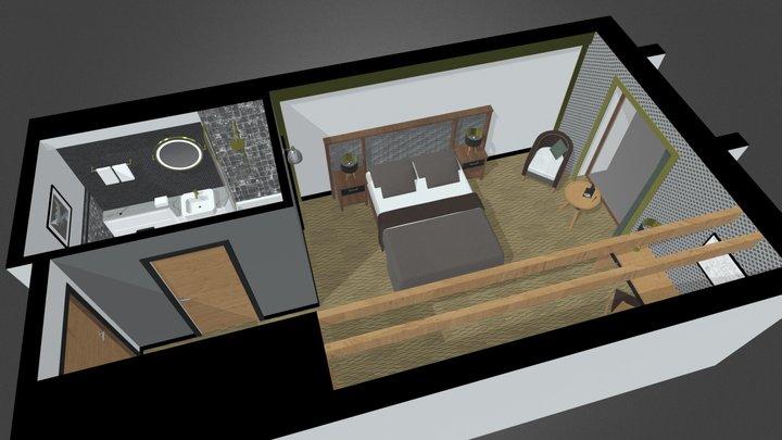 Hotel - Standard Bedroom 3D Model