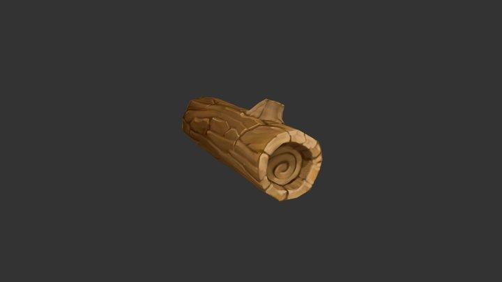 Woodenlog 3D Model