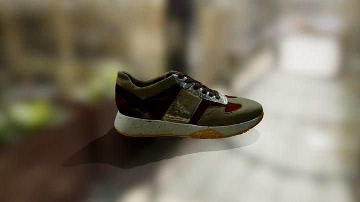 Red/Gold Shoe 3D Model