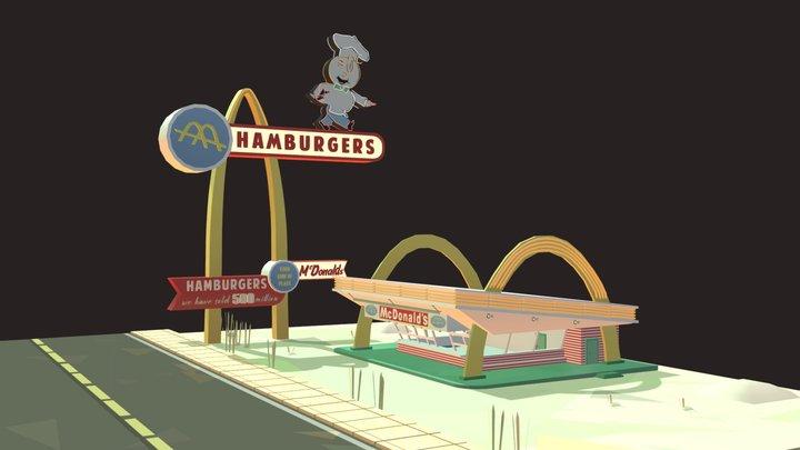 50s McDonalds 3D Model