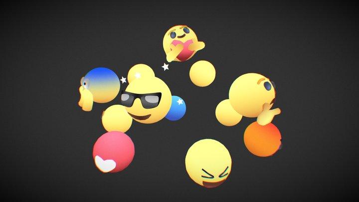 Emojis 3D Model