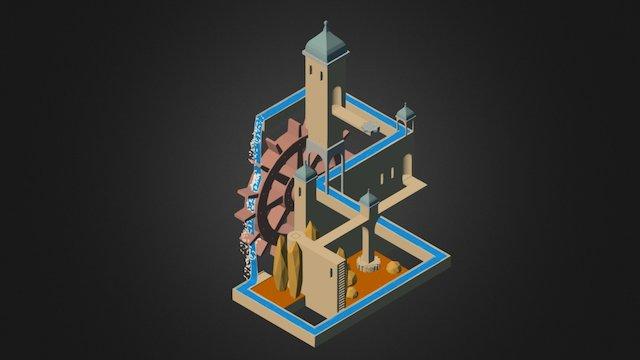 Monument Valley Isometrique 3D Model