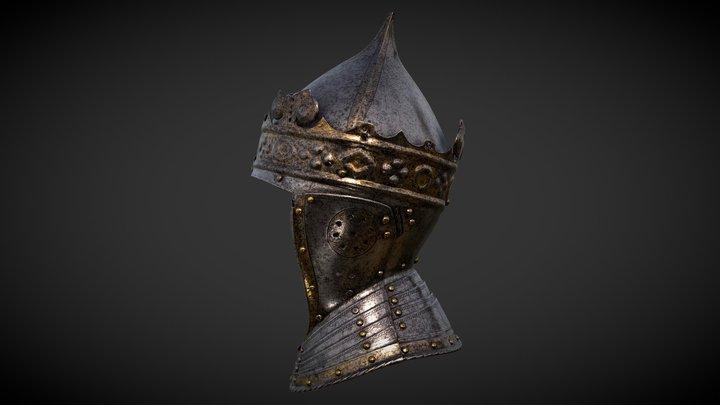 King Gustav Vasa's Helmet with a Gilt Crown 3D Model