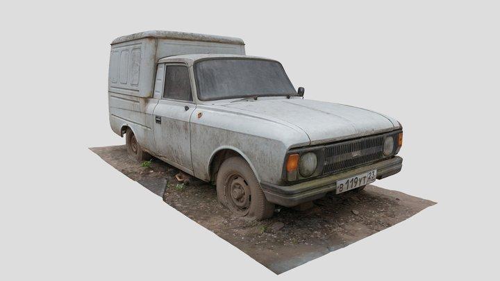 "Abandoned Soviet Car — IZH-2715 ""Пирожок"" 3D Model"