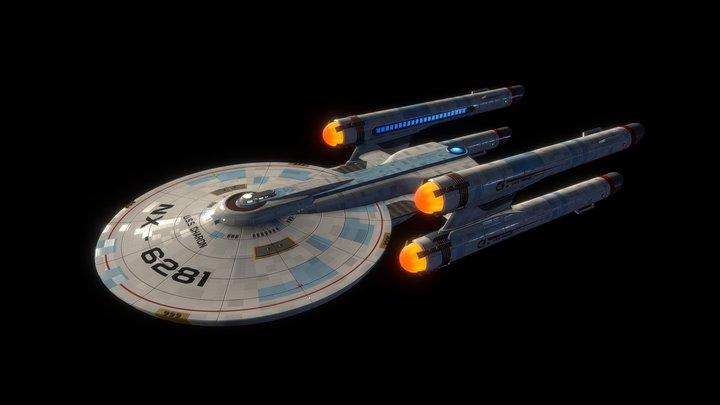 U.S.S. Charon (Star Trek Fan Design) 3D Model