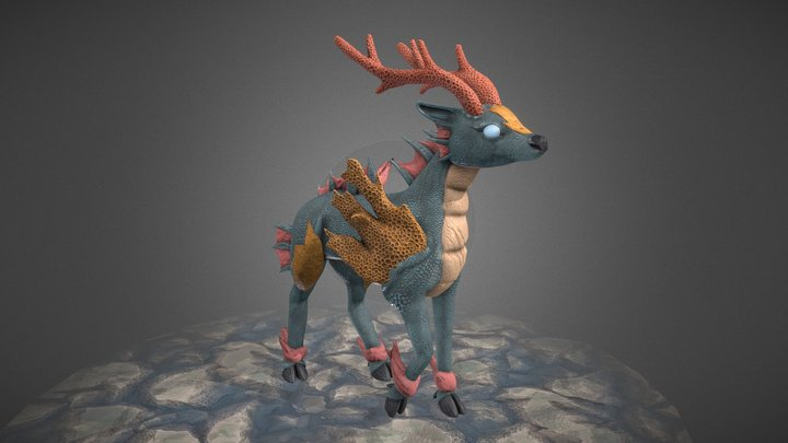 Coral Kirin - Creature Model 3D Model