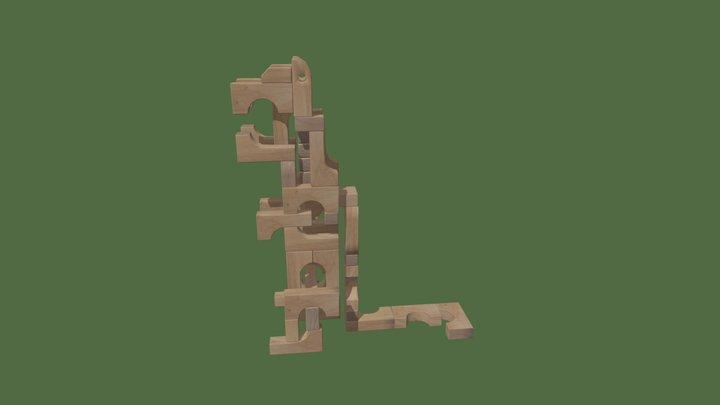 Unit block Dinosaur 3D Model