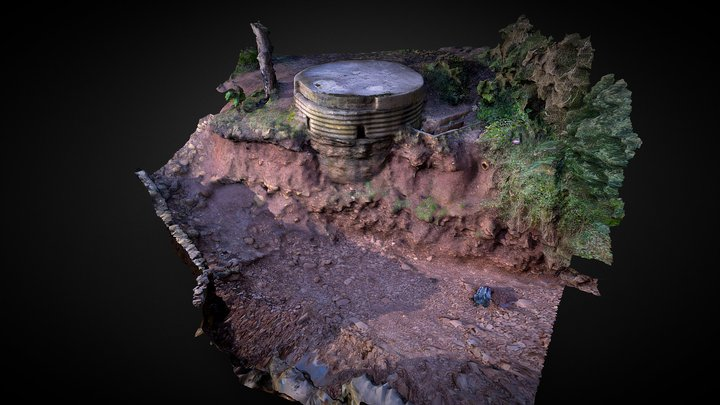 Type 25 pillbox, Swanbridge, Sully 3D Model