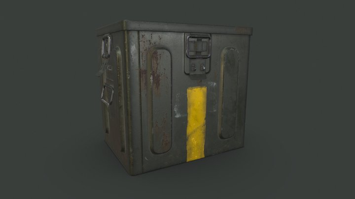 Military MK2 ammo box 3D Model