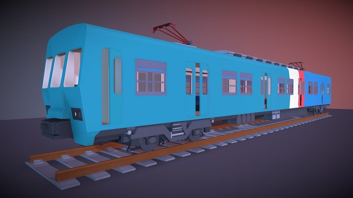 Trem Supervia (Supervia Train) 3D Model