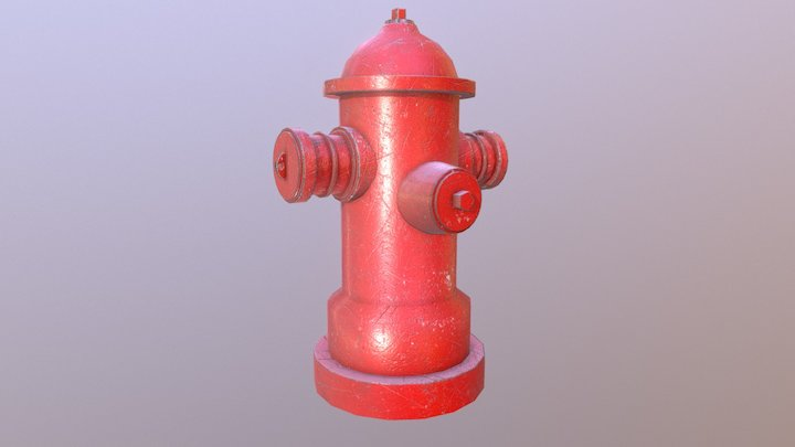 Fire Hydrant - low poly 3D Model