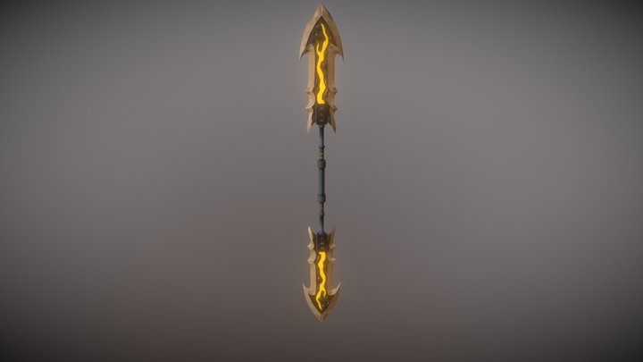 Double sided Sword - Weapon 3D Model