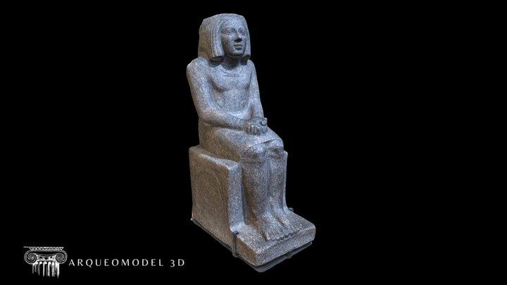 Ankh Priest of Horus-A 39 LOUVRE (PARIS) 3D Model