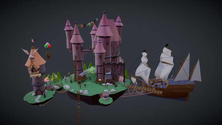 Mega Scene 3D Model