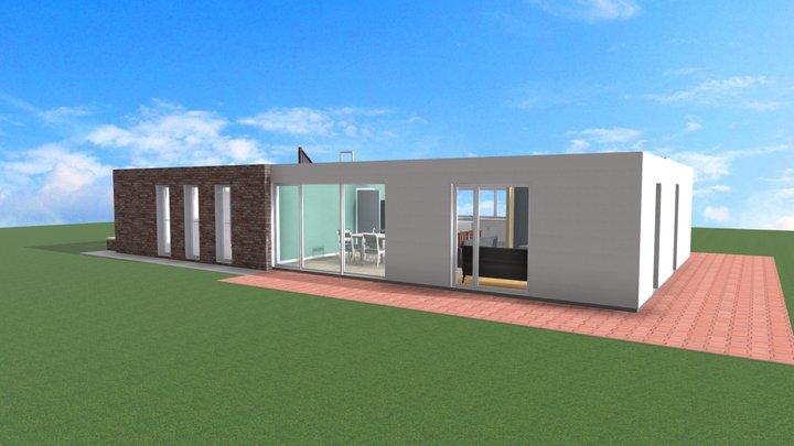 Custom Design house - 015 (Ground Floor) 3D Model
