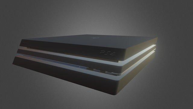Playstation 4 Pro 3D Model