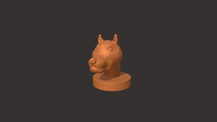 Dog - sculpted by 10 years old Bartek 3D Model