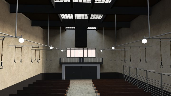 Sporthalle der Glasschule Celle von 1928 3D Model