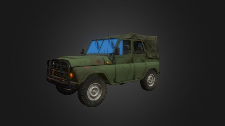 PUBG:UAZ 3D Model
