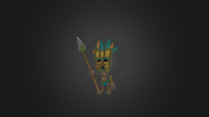 Tribal Tiki 3D Model