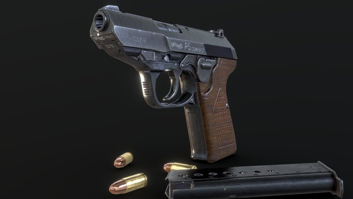 Walther P5 Compact 3D Model