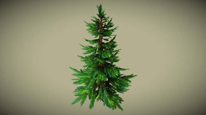 Hand-painted Tree 3D Model