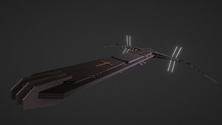 H.E.S. Abbadon Battleship 3D Model