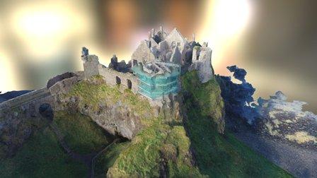 Dunluce Castle 3D Model