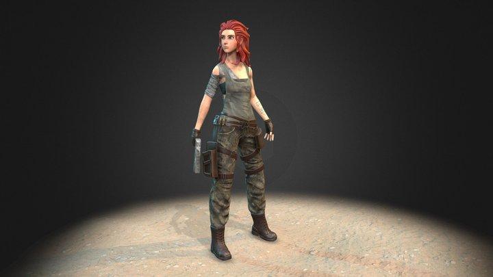 Sandkeeper Cassie (unarmored version) 3D Model