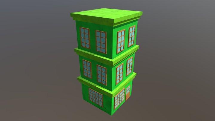 Prédio verde 3D Model