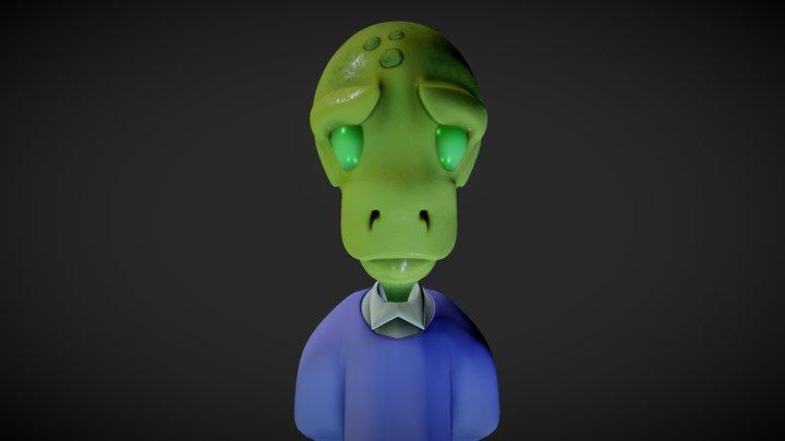 Alien dude 3D Model