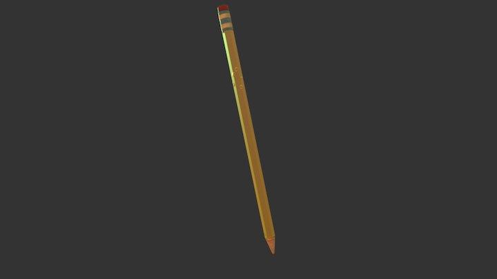 Pencil Textured 3D Model