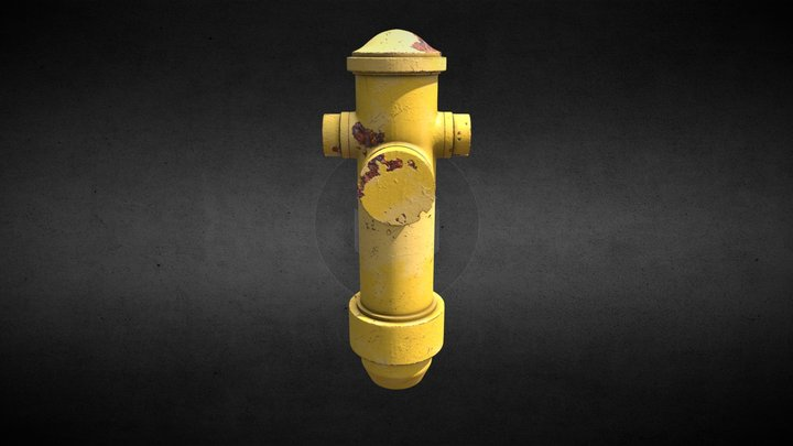 Yellow Fire Hydrant 3D Model