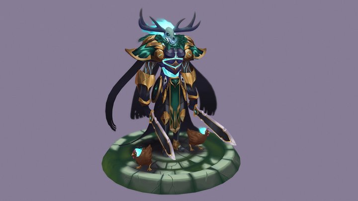 Sir Gawain the Forest Knight 3D Model