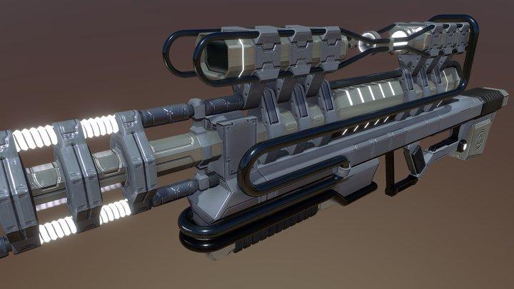 Warframe-Corpus Sniper Concept 3D Model
