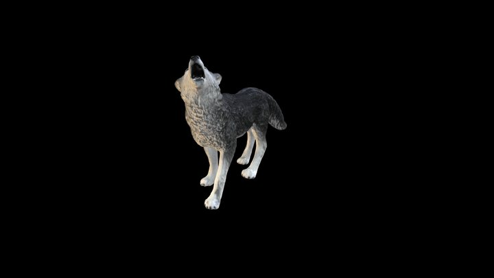 Wolf Toy 3D Model