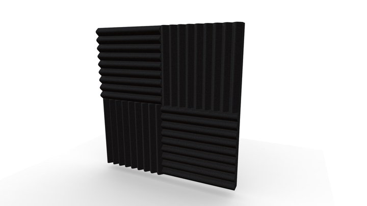 Acoustic Foam Tile 3D Model