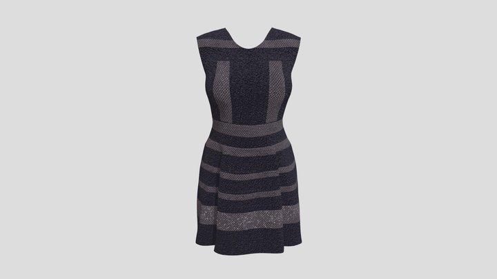 Pansy Dress 3D Model