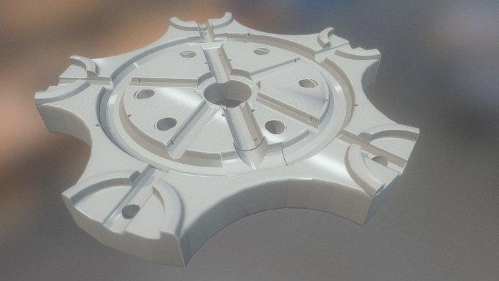 Figura Fantasia Del Agua 3D Model
